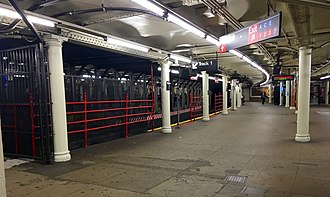 Times Square–42nd Street/Port Authority Bus Terminal (New York City Subway) - Shuttle platform for track 1