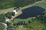 Tinye, Garancsi-tó. Az Üvegtigris forgatási helyszíne légifotón 1.jpg