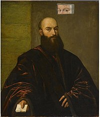 Titian - Portrait of a Venetian Gentleman painted over a copy of Giacomo Dolfin.jpg