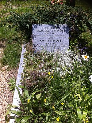 Ann Oakley - The grave of Ann Oakley's parents, Richard and Kay Titmuss, in Highgate Cemetery.