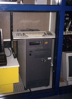 Internet Relay Chat - The first IRC server, tolsun.oulu.fi, a Sun-3 server on display near the University of Oulu computer centre. (2001)