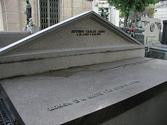 Antônio Carlos Jobim - Grave of Tom Jobim in the Saint John the Baptist Cemetery, Rio de Janeiro