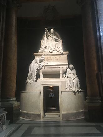 Pope Clement XIV - Tomb of Pope Clement XIV at Santi Apostoli in Rome.