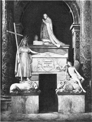 Tomb of clement xiii st peters rome