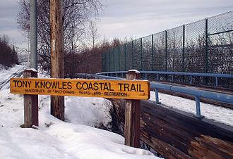 Tony Knowles Coastal Trail - Tony Knowles Coastal Trail - Second Avenue Entrance.