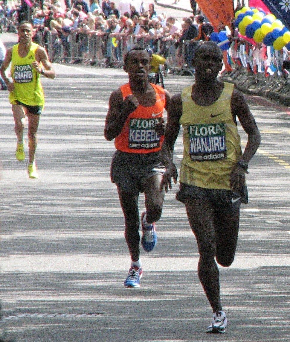 Top Three Men at London Marathon 2009 crop