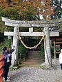 Torii of Kumano Shrine in Daikozenji Temple.jpg