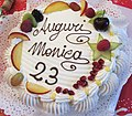 Torta di compleanno - Birthday cakes of Italy - fruit Meringue Whipped cream from traditional pastry of Milan.jpg