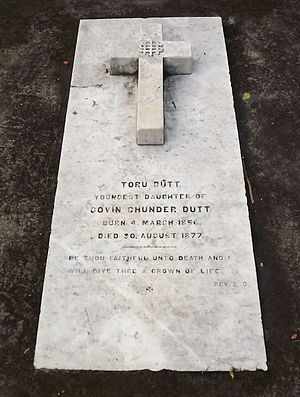Toru Dutt - Grave of Toru Dutt at Manicktala Christian Cemetery