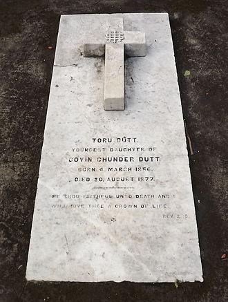 Toru Dutt - Grave of Toru Dutt at Manicktala Christian Cemetery