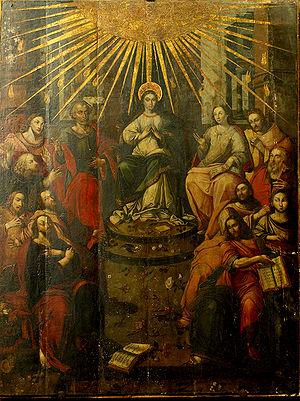 Polski: Toruń, kościół św. Jakuba, obraz Zesła...