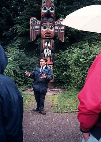 Museum docent - Totem pole lecture