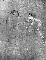 Toulouse-Lautrec - LUCIEN GUITRY ET JEANNE GRANIER, 1895, MTL.183.jpg