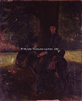Toulouse-Lautrec - MONSIEUR LE COUTEULX JEUNE A ANE, 1881, MTL.56.jpg