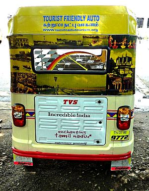 Tour bus service - Tourist autorickshaw south of Chennai (Madras), India