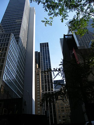 53W53 - The building will be located between the Financial Times Building on the left and The Museum of Modern Art on the right.