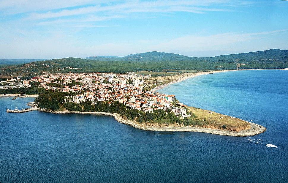 Town of Primorsko aerial Boby Dimitrov
