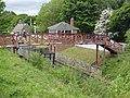 Town railway east footbridge, Beamish Museum, 17 May 2011.jpg