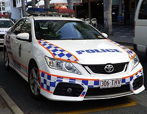 Law enforcement in Australia - Queensland Police Toyota Aurion