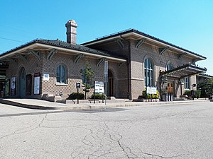 Morristown station - The station building in 2012.