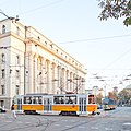 Tram in Sofia near Palace of Justice 2012 PD 017.jpg
