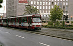 Tram on Route 705 at Neuss Hbf - geo.hlipp.de - 4096