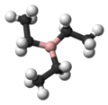 Ball-and-stick model of triethylborane