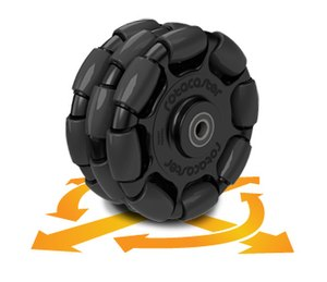 Omni wheel - Triple Rotacaster commercial industrial omni wheel