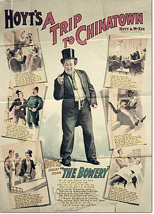 The Bowery (song) - A poster with lyrics to The Bowery, 1890