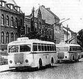 Trolejbusy na ul. Pieniężnego (Wilhelmstrasse), Poczta Główna 1939r..jpg