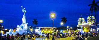 Plaza de Armas of Trujillo (Peru) - In the Main Square of Trujillo of the Historic Centre of Trujillo on December 29, 1820 the independence of Trujillo was proclaimed by the Marquis of Torre Tagle, in honor to the city the Freedom Monument by sculptor Edmund Moeller