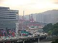 Tsing Kwai Highway at sunset.JPG
