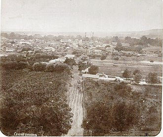 Tskhinvali - A vintage photo of Tskhinval' by D. Rudnev, 1886.