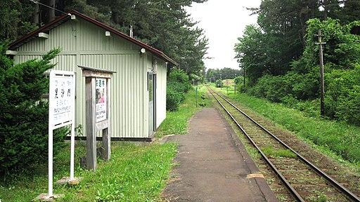 Tsugaru-railway-Bishamon-station-platform-20110615-100622