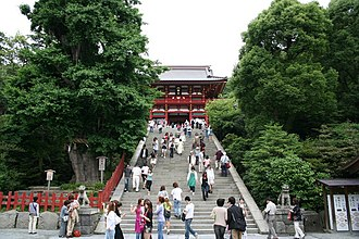 Minamoto no Sanetomo - Grand stairway at Tsurugaoka Hachiman-gū in Kamakura – the scene of Sanetomo's assassination