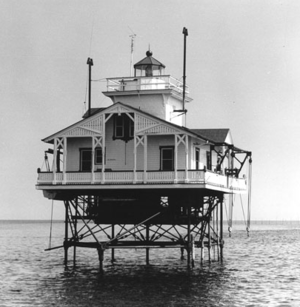 Tue Marshes Light - Undated photograph of Tue Marshes Light (USCG)