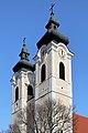 Tulln an der Donau - Kirche hl. Stephan, Doppelturm.JPG