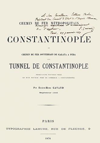 Tünel - Image: Tunnel de Constantinople