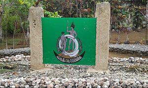 Turaga nation - Turaga coat of arms on display at Lavatmanggemu