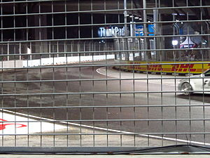 2010 Singapore Grand Prix - The fifth turn of the Marina Bay Street Circuit, one of the areas resurfaced in an effort to reduce bumpiness