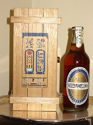 History of beer -  A replica of ancient Egyptian beer, brewed from emmer wheat by the Courage brewery in 1996