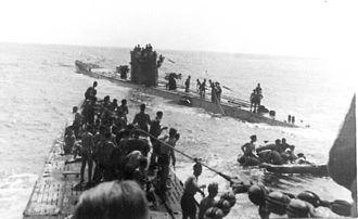 U-571 (film) - U-156 (foreground) and U-507 (background) on 15 September 1942