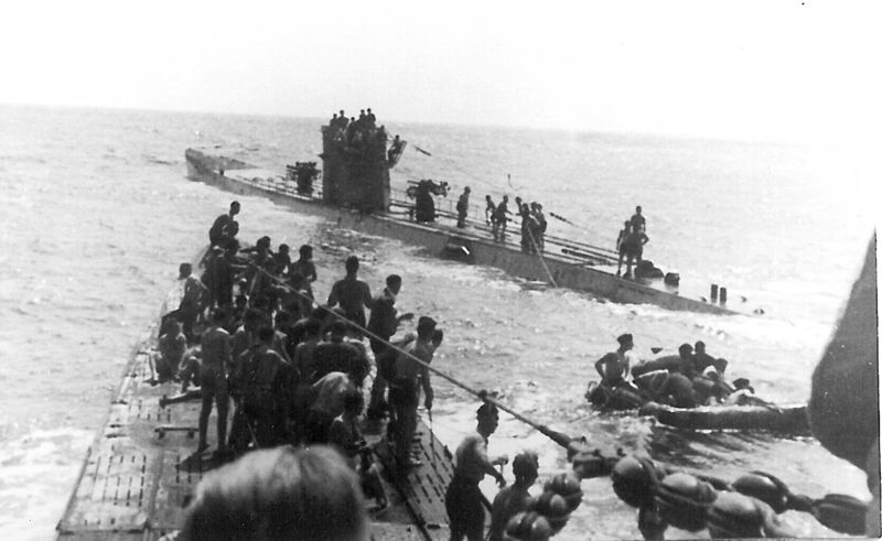 U-156 37-35 Laconia 1942 09 15