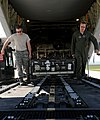 U.S. Air Force Master Sgt. Francis Watermolen, left, the air operations office section chief with the 31st Logistics Readiness Squadron, and Tech. Sgt. James Sullivan, a loadmaster with the 37th Airlift 140408-F-ND912-072.jpg