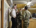U.S. Sen. Bob Corker of Tennessee, left, receives a briefing on the NATO Special Operations Component Command-Afghanistan (NSOCC-A) Joint Operation Center July 7, 2013, at Camp Integrity, Afghanistan 130707-N-QV903-015.jpg