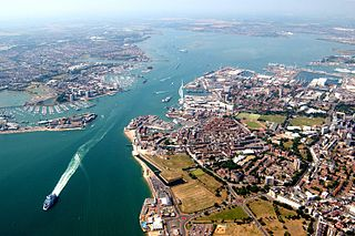 Portsmouth Harbour natural harbour in Hampshire, England