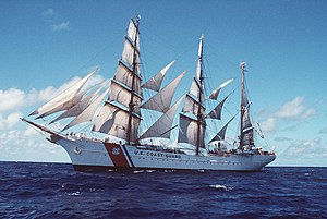USCGC Eagle under sail
