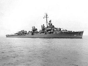 USS Bennett (DD-473) off Boston, Massacusetts (USA), on 7 May 1943
