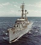 USS Lansing (DER-388) underway off the coast of Oahu on 16 November 1963 (KN-7281).jpg