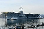 USS Ranger is towed away from Naval Base Kitsap-Bremerton on 5 March 2015.jpg